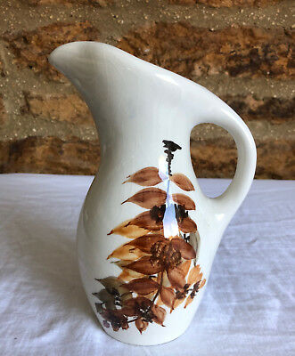 Vintage 1950s Jersey Pottery jug with handpainted decoration Ex Con