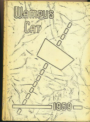 1959 Wampus Cat Conway Arkansas High School Yearbook Great Local Ads