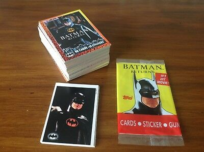 "Topps ""batman Returns"" Full Set 1992 ,nr Mint"