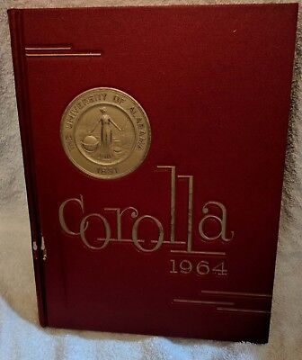 University of Alabama Corolla 1964 Yearbook Annual Crimson Tide