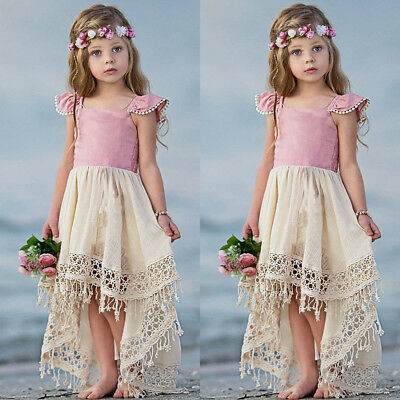 US Stock Toddler Kids Baby Girls Tutu Tull Dress Party Princess Pageant Sundress
