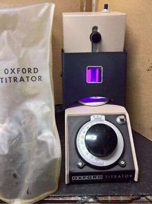 Oxford 301 TITRATOR, works, dust cover included,  works USA