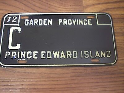 1972 Prince Edward Island Commercial Sample License Plate C