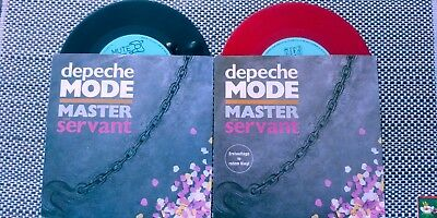 "Depeche Mode 2x  Single ""Master And Servant"" INT 111.821 Black+RED"