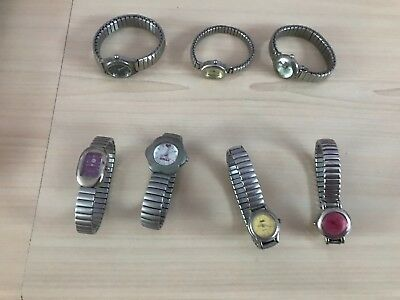 Job lot of 7 ladies watches for spares or repair