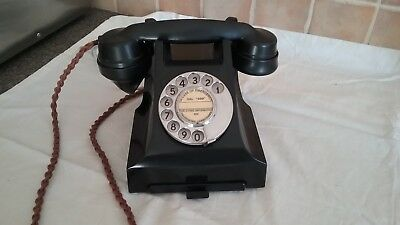 Vintage 1957 Art Deco Gp0 Bakelite Telephone (British Classic)