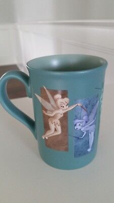 Disney Tinkerbell TINK Coffee Cup Mug Walt Disney World Teal Blue Peter Pan