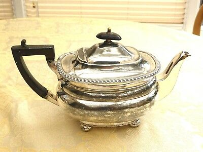Victorian Queen Anne Style Silver Plated Gadroon Edge Footed Tea Pot 1370990/995