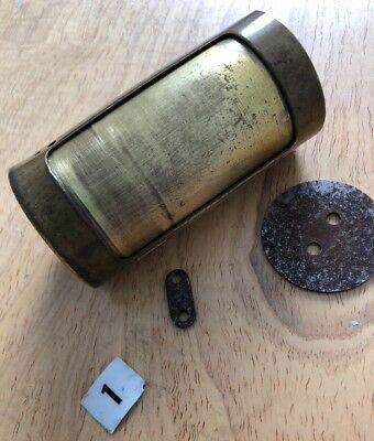 LAMSON 1940 Numbered tube pneumatic air capsule Brass w/extra parts Antique Rare