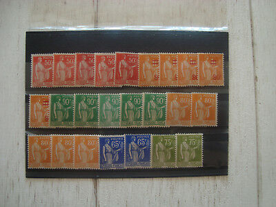 Timbres Neufs ** type Paix