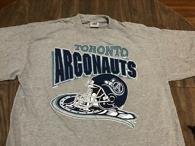 e0e74787498 VINTAGE TORONTO ARGONAUTS CFL Canadian Football XL Gray T Shirt ...