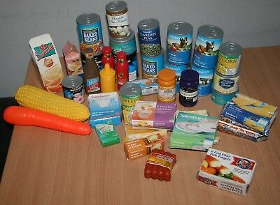 Play Food Bundle Pretend Shopping Sainsbury's Tins Packets & Others
