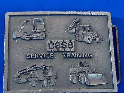VINTAGE 70's Retro  BELT BUCKLE CASE ENGINES TRACTORS--SERVICE TRAINING--NICE