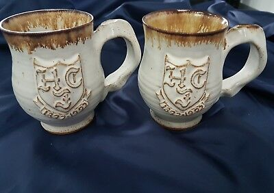 Jerry Harper Studio pottery mugs x 2
