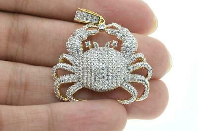 14K Yellow Gold Plated Micro Pave CZ Fashion Lobster Pendant with Rope Chain