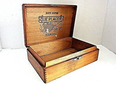 Cigar Box, Boite Nature, Que Placer, Habana, Factory 5, 3Rd Dist., N.y.
