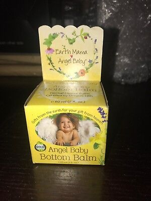 Earth Mama Angel Baby Organic Bottom Balm, Herbal Diaper Cream 2oz