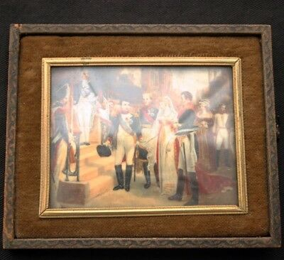 Napoleon Wedding Miniature Painting19th C. after Gosse