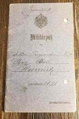 WW1 WWI German soldiers Militarpak Military pass book booklet 1896-19168