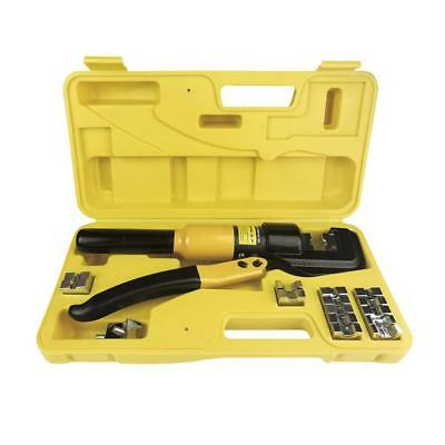 10 Tons Hydraulic Wire Battery Cable Lug Terminal Crimper Crimping Tool With...