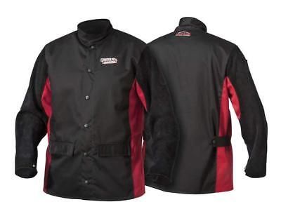 Lincoln Electric Split Leather Sleeved Welding Jacket | Premium Flame...