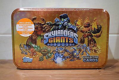 Topps Skylanders Giants Collectors Tin 35 Cards One Limited Edition & Dog Tag