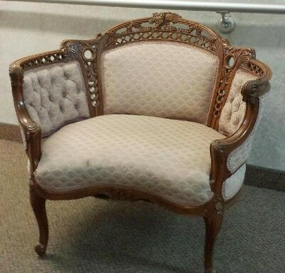 Liquidation SALE   Vintage French style Chair Bustle Settee bench Boudoir