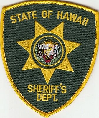 State Of Hawaii Sheriff's Department Shoulder Patch Hi Police