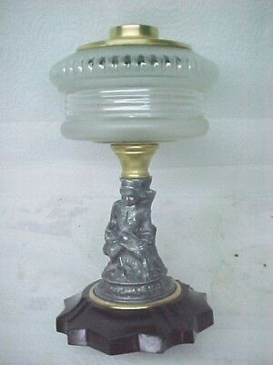 1870's Figural Oil Lamp, Very Good Condition