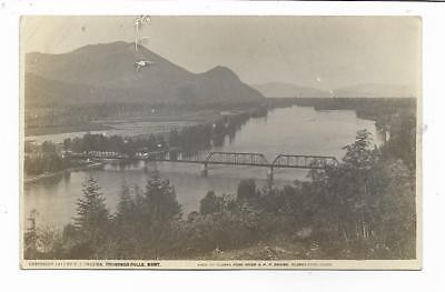 Clarks Fork Idaho..River and Bridge..RPPC Postcard