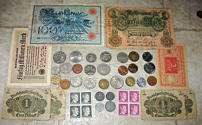 GERMAN REICH COINS WITH SWASTIKAS! GERMANY STAMPS & BANKNOTES! WORLD COINS! #87b