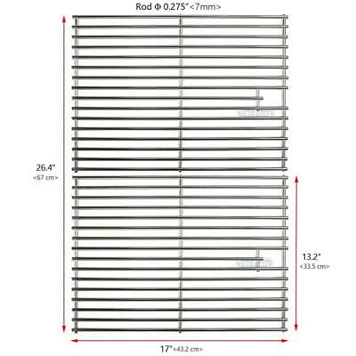 Uniflasy Stainless Steel Grill Cooking Grid Grates Replacement Parts for...