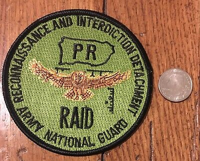 Puerto Rico Drug Interdiction And Army Reconnaissance Police Patch
