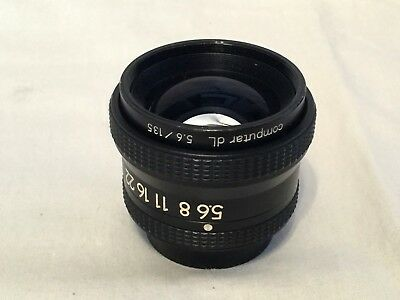 Computar dL 135mm f5.6 enlarging lens for 4x5 film, good used condition