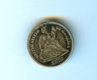 1876 Seated Liberty Dime Love Token House Well Initials