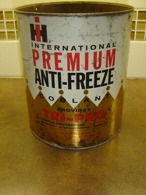 Vtg Ih International Harvester Premium Anti-Freeze Tin 1 Imp Gallon