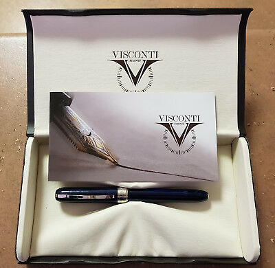 Visconti Rembrandt Fountain Pen (Broad Stainless Steel Nib, Blue) USED