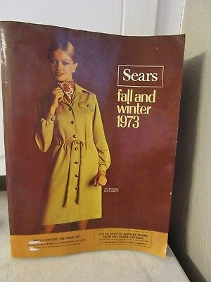 Vintage 1973 Advertising Sears Fall And Winter Catalog Estate Find