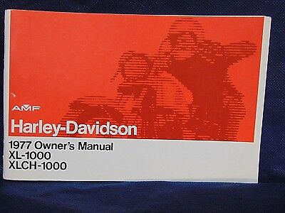 original AMF HARLEY DAVIDSON motorcycle 1977 OWNER'S MANUAL XL-1000 XLCH-1000