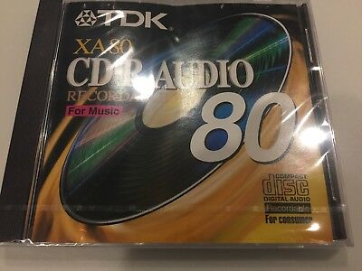 2 x New TDK XA80 CD-R Audio Recordable For Music Compact Disc 80min.