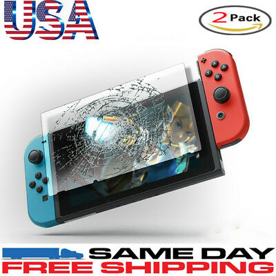 9H 2 Pack For Nintendo Switch Rear PREMIUM TEMPERED GLASS Cover Screen Protector