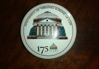 University of Virginia Law* 175 years * School of Law China Trinket Box 1994