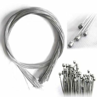 2Pcs Road Bike Bicycle MTB Gear Brake Line Shifter Core Inner Cable Wire 2.1M