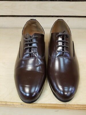 PARRAZA Mens Cuban Heel Dance Shoe lace up. Round toe. Brown  size 10