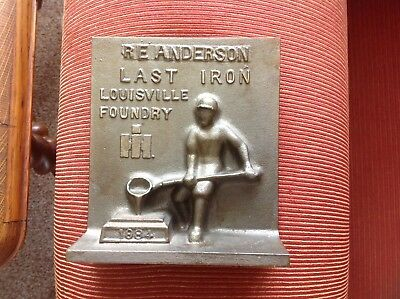 Ihc International Harvester Louisville Plant 1984 Last Iron Paperweight