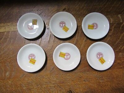 """6 Vintage 3 1/2"""" United States Army Medical Department Butter Pat Plates-W/Price"""