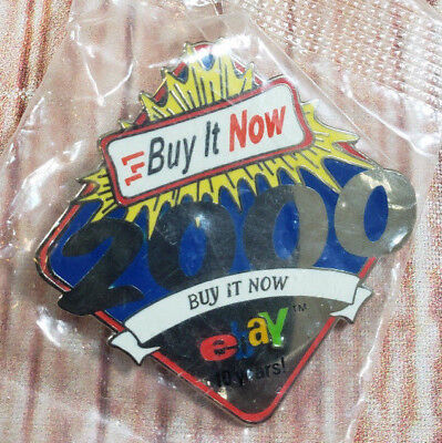 2000 eBay Live Buy It Now 10 Years Collectible Pin NEW