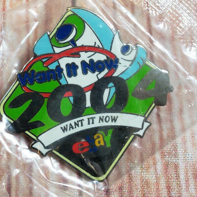 2004 eBay Live Want It Now 10 Years Collectible Pin NEW