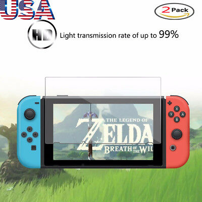For Nintendo Switch Console PREMIUM TEMPERED GLASS 2 Pack Cover Screen Protector