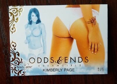 2017 Benchwarmer KIMBERLY PAGE Odds & Ends Dreamgirls 2/5 Butt Playboy Model